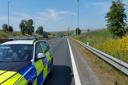 Why the M65 near Blackburn was closed this morning