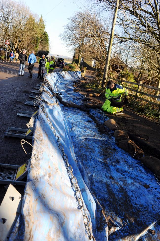 The clean up operation in Ribchester after the Boxing Day floods