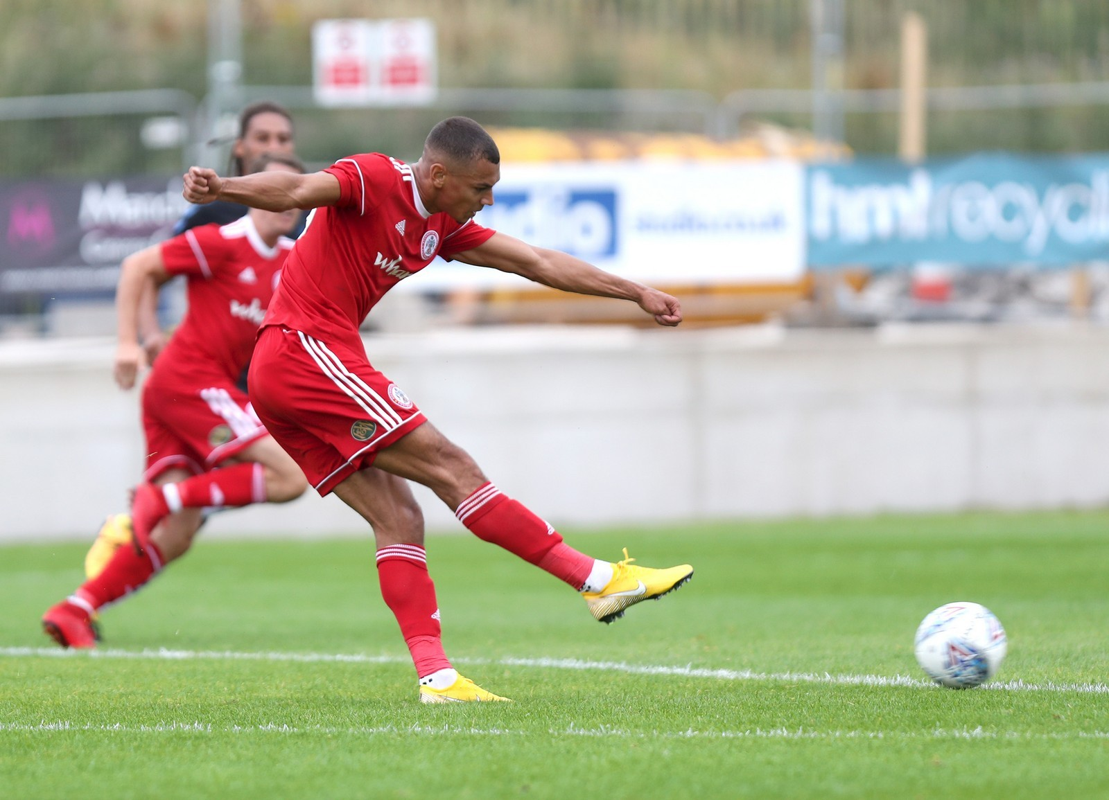 Kayden Jackson scores against Middlesbrough in Stanley's 4-3 friendly win