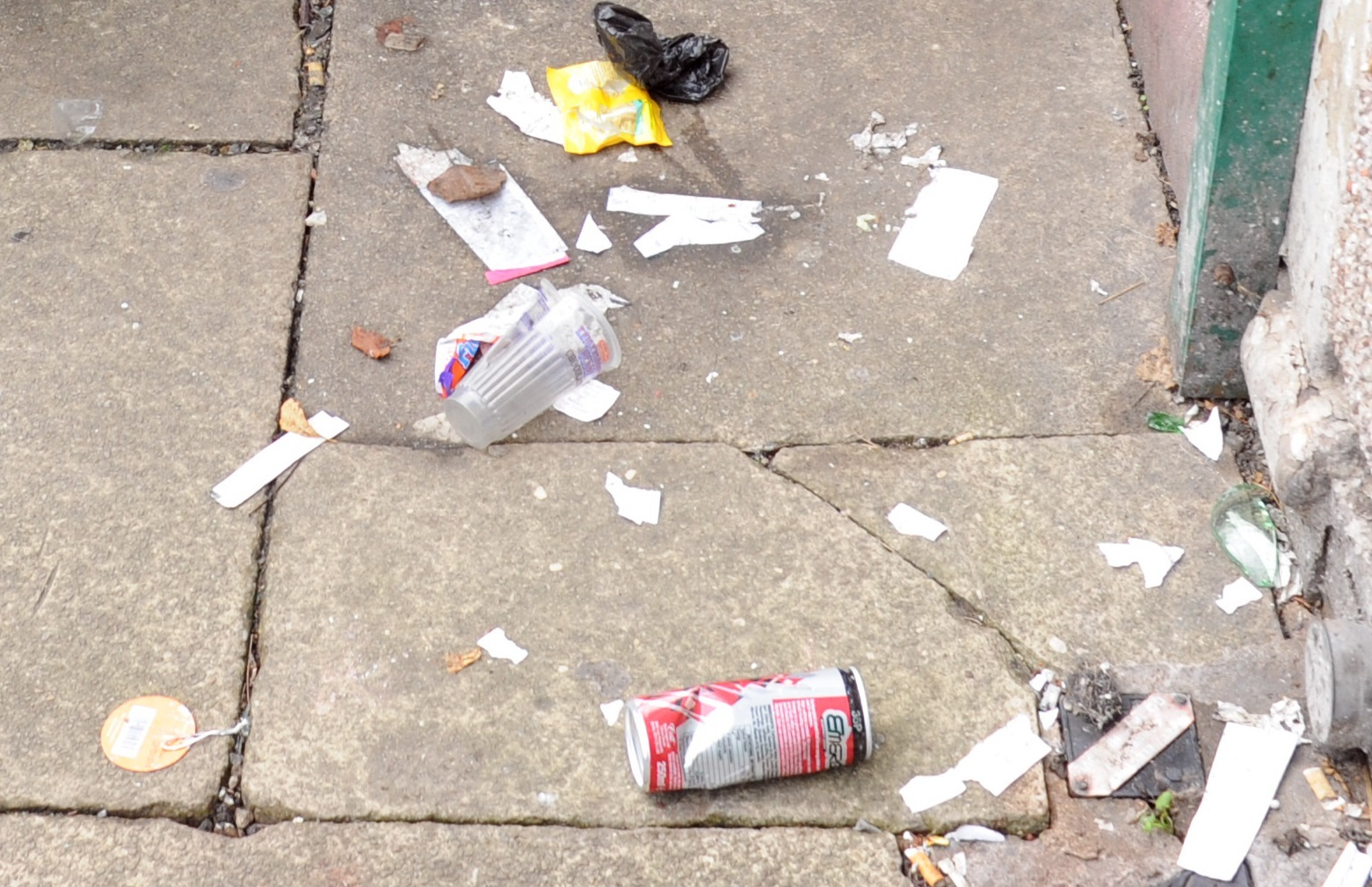 A general image of litter on a street