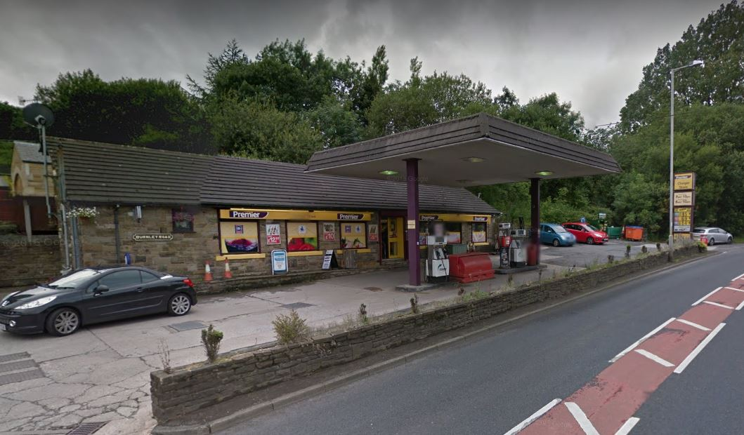 Essar petrol station, on Burnley Road, Cliviger
