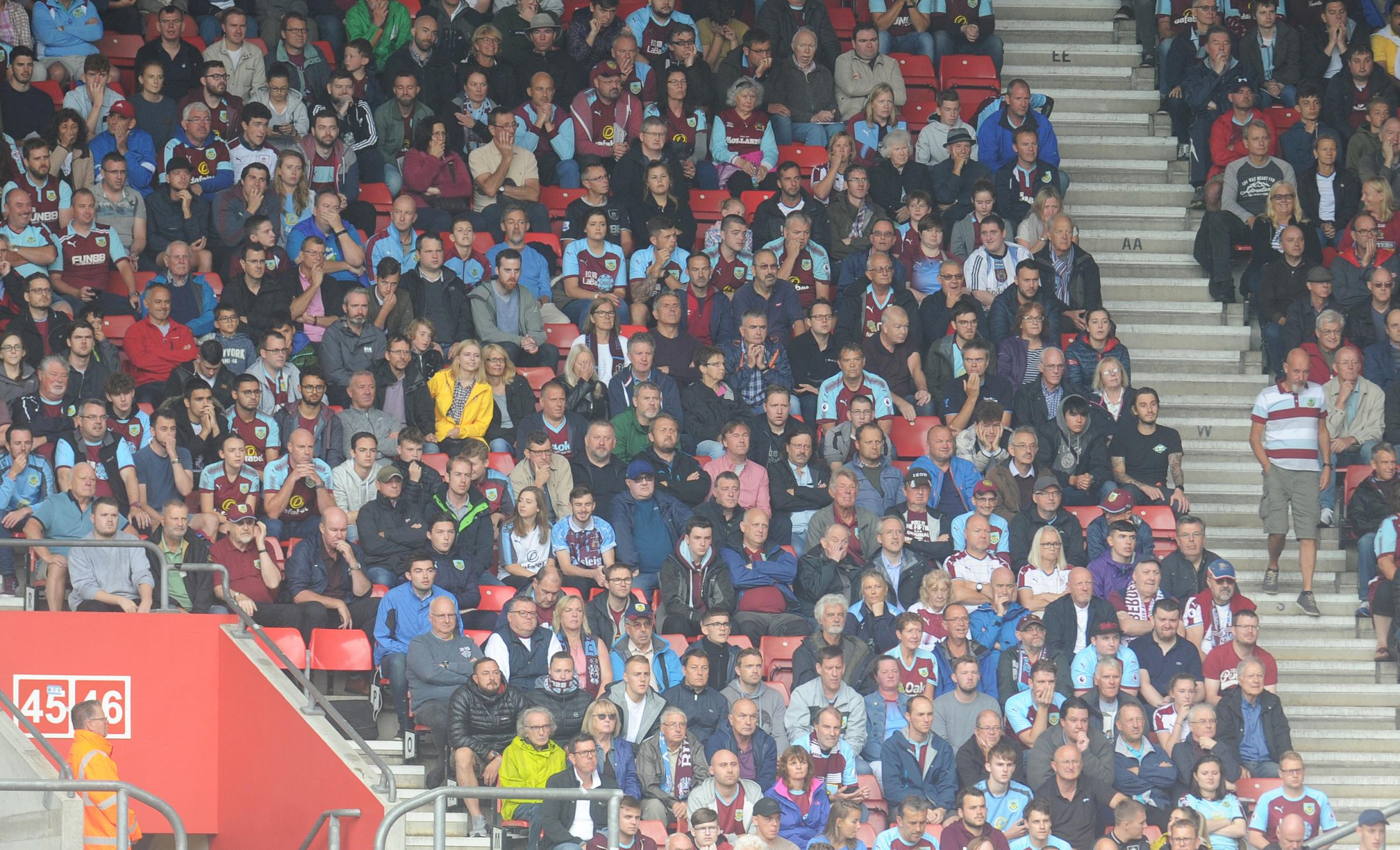 Burnley fans back their side at Southampton