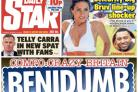 Daily Star's front page on Tuesday about Freda Jackson's 'disaster' trip to Benidorm