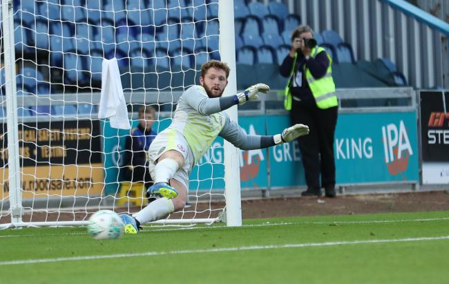 Jonny Maxted was beaten by two penalties among the six he conceded at Mansfield