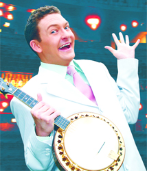 MR ENTERTAINMENT: Andy Eastwood gained a degree at Oxford University by playing the ukulele