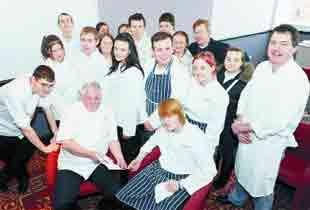 Celebrity chef dishes advice to Blackburn students