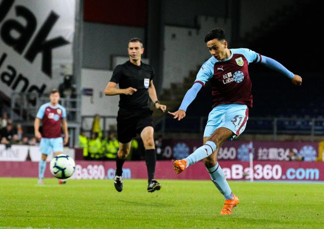 Dwight McNeil made his first Burnley start against Olympiakos