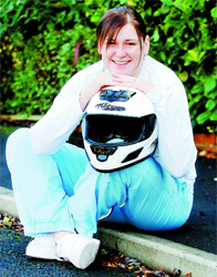 BOB-A-JOB: Paula Walker has got over her fears to get in to the GB ladies bobsleigh team