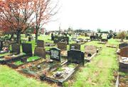 SCENE OF THE MYSTERY: The cemetery in Rossendale Road