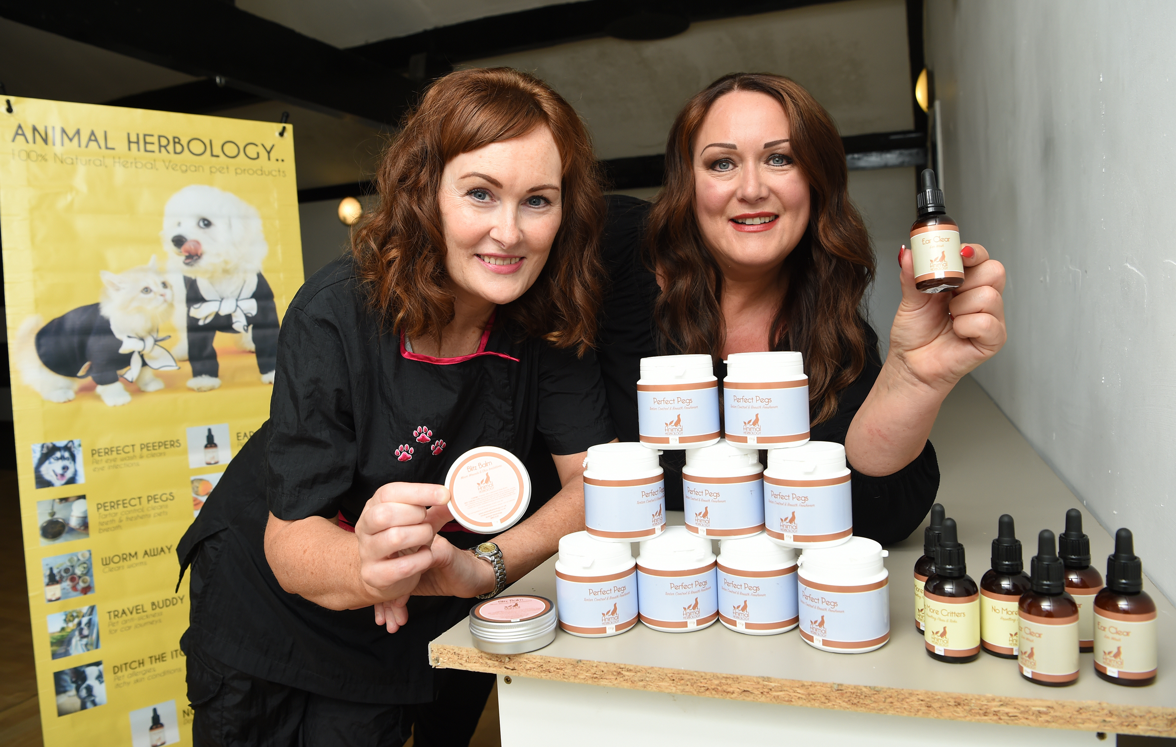Jayne Beckingham-Burgess, left, and Jane Ferguson-Grime are hoping for business success