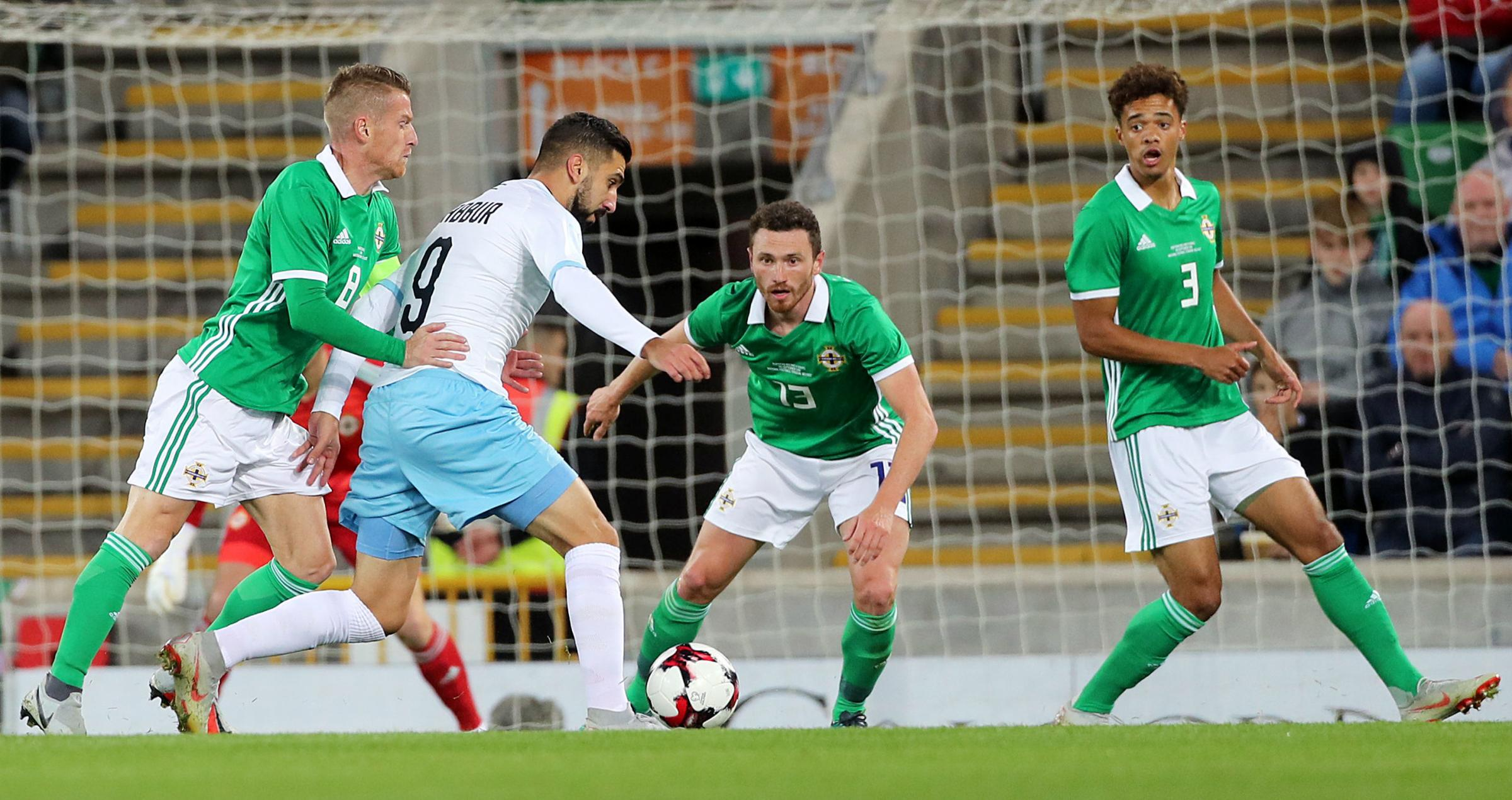 Corry Evans played 45 minutes of Northern Ireland's win over Israel