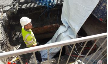 Work on the Earby Culvert