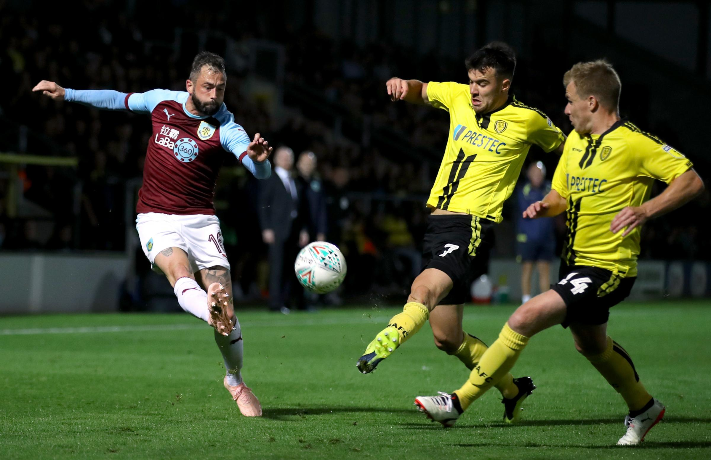 Steven Defour was back in action for Burnley at Burton Albion