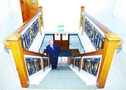STAIRWAY TO HISTORY: Castle Cement's Stephen Hartley on the historic staircase