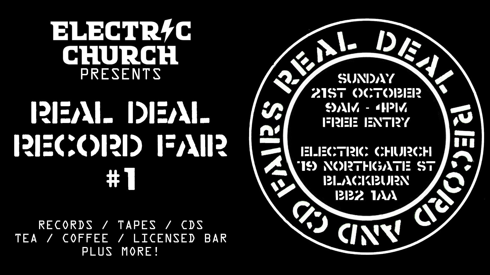 21 Electric Church Presents: Real Deal Record & CD Fairs #1
