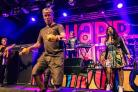 Bez on stage with the Happy mondays on a recent tour. picture: Facebook/ Happy Mondays Online