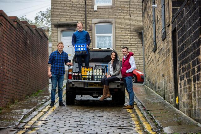 Simon Mellin, Tom Shaw, Becky Hilton and Paul White, of The Modern Milkman