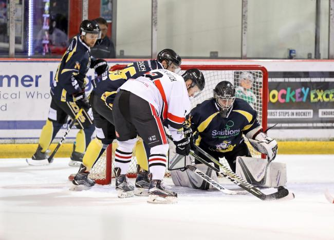 Match action from Blackburn Hawks' game with Nottingham Lions