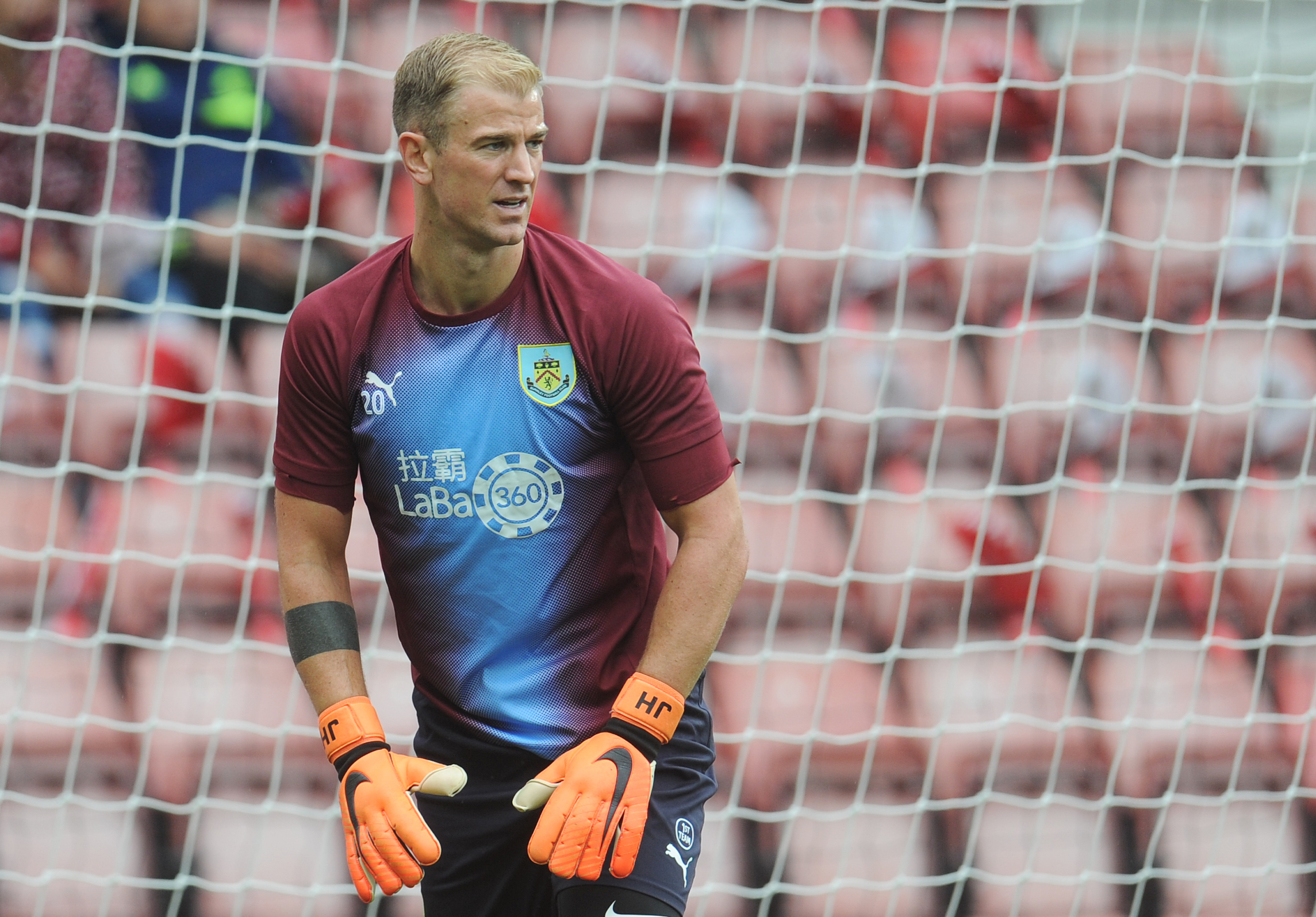 Burnley's Joe Hart during the pre-match warm-up ..Photographer Kevin Barnes/CameraSport..The Premier League - Southampton v Burnley - Sunday August 12th 2018 - St Mary's Stadium - Southampton..World Copyright © 2018 CameraSport. All ri