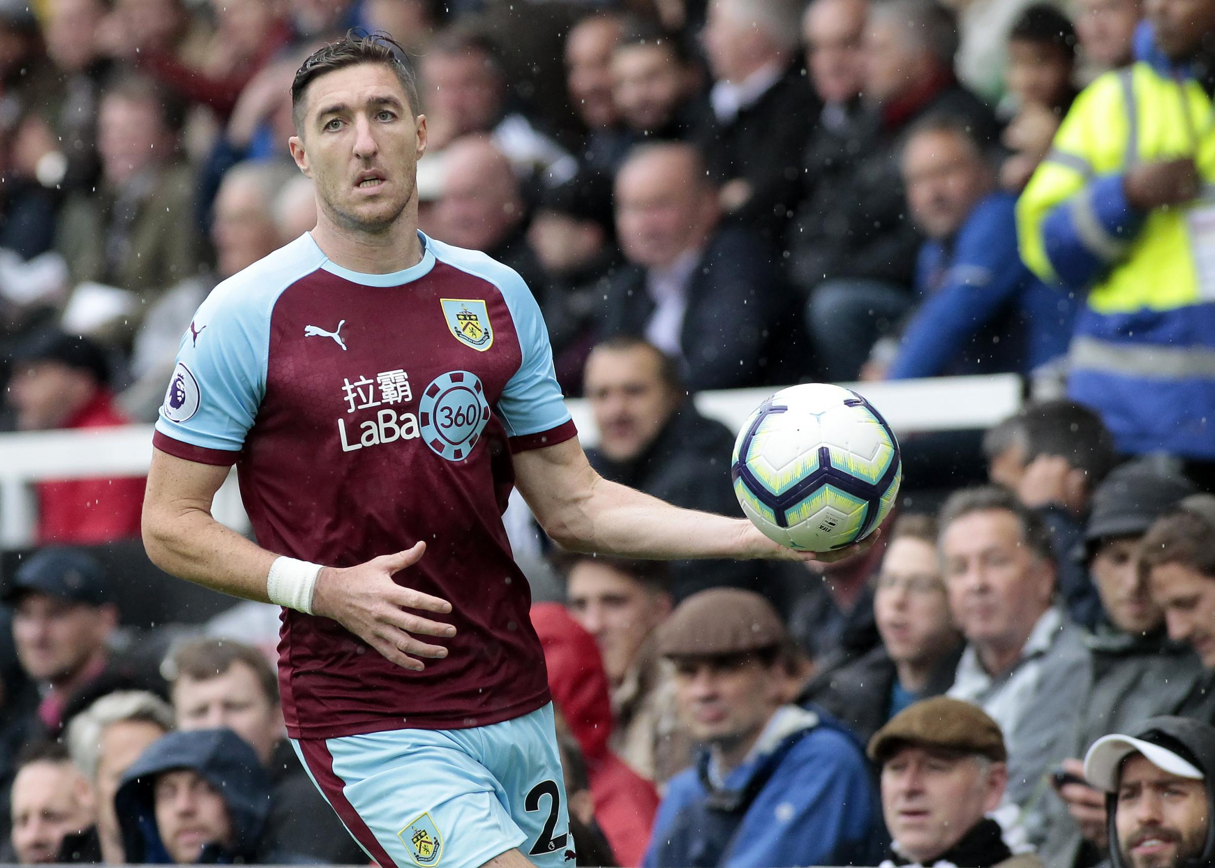 Burnley's Stephen Ward in action..Photographer David Shipman/CameraSport..The Premier League - Fulham v Burnley - Sunday August 26th 2018 - Craven Cottage - London..World Copyright © 2018 CameraSport. All rights reserved. 43 Linden Ave. Co