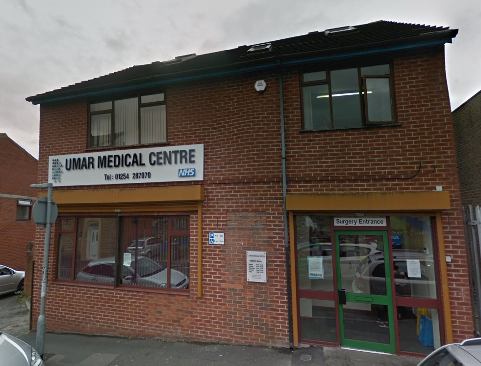 Umar Medical Centre in Lime Street, Blackburn