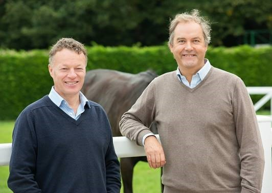 Jason Fildes with Harry Herbert, Highclere's chairman