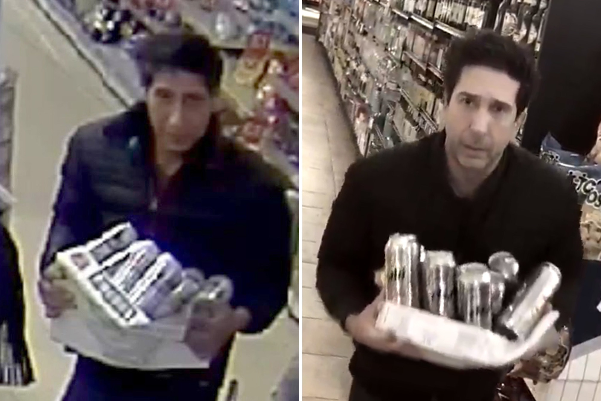 Social media users pointed out the likeness to Schwimmer's (right) character Ross Geller