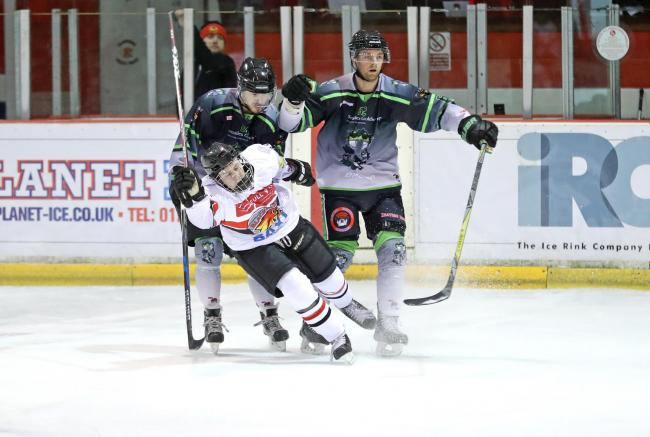 Match action from Blackburn Hawks ' defeat to Hull Pirates