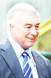 RELIEF: Stan Ternent after being acquitted of assault at Lancaster Crown Court