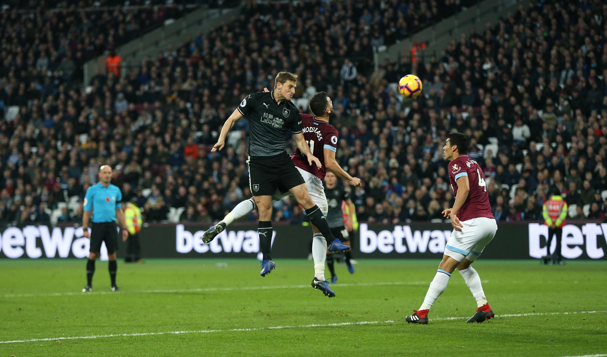 Chris Wood found the net in Burnley's defeat at West Ham last weekend