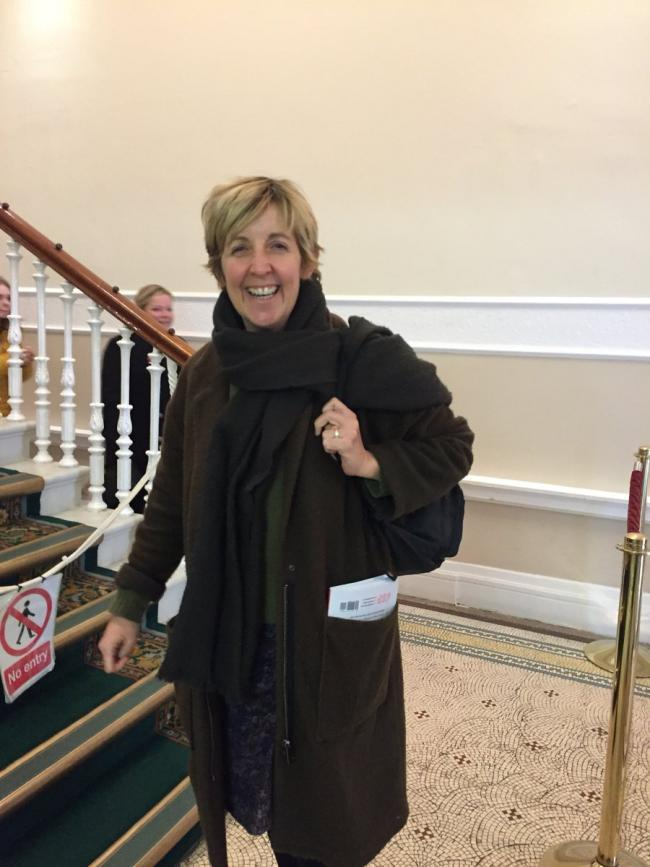 Julie Hesmondhalgh arrives at Accrington Town Hall for a Remembrance Day play reading