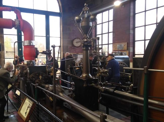 The steam engine in action