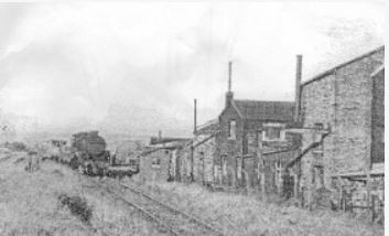 The only extant picture of a train on the Hoddlesden Railway: a 'Crab' in the last years of the line entering Shaw's sidings?. Copyright Cottontown
