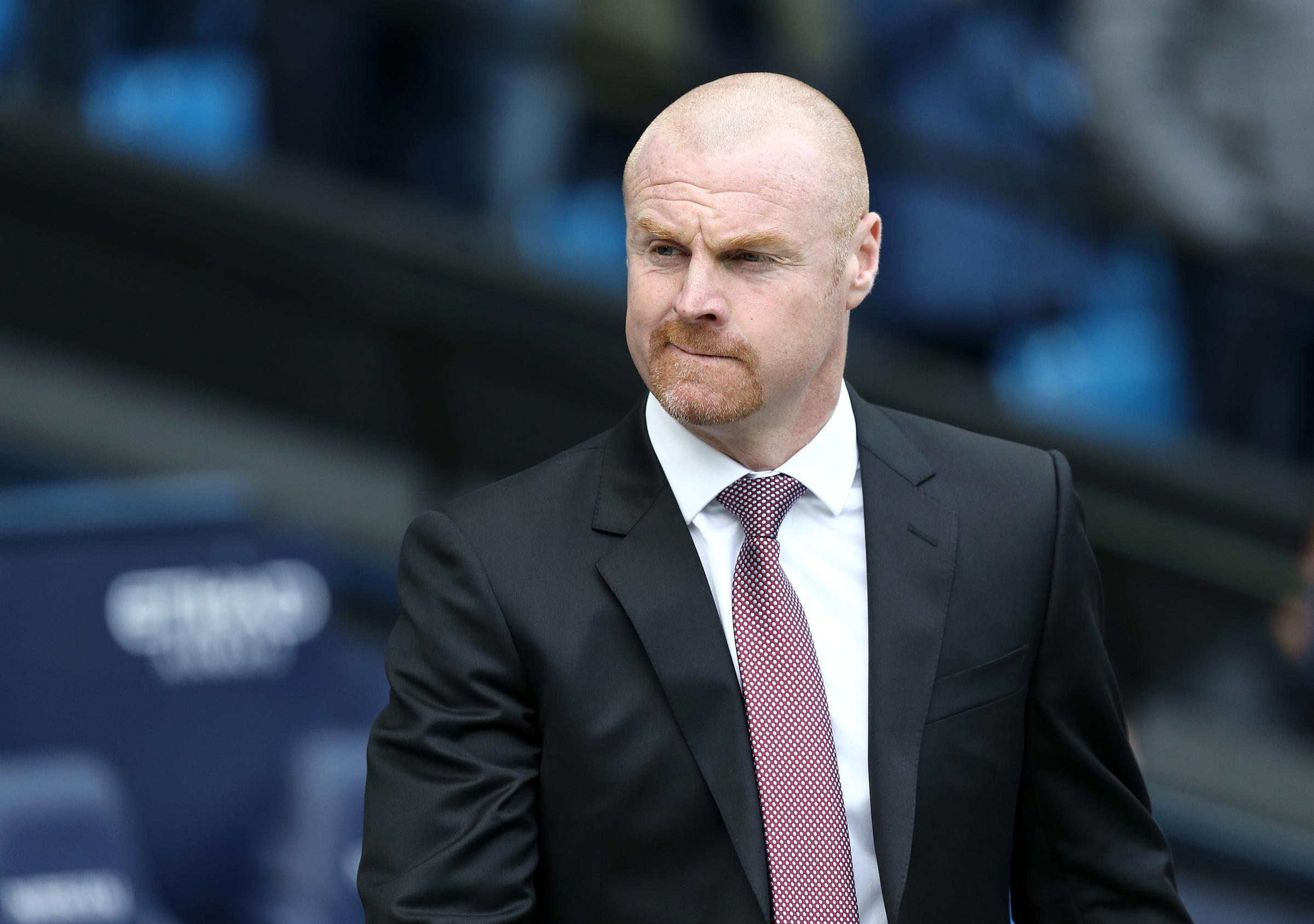 Burnley manager Sean Dyche..Photographer Rich Linley/CameraSport..The Premier League - Manchester City v Burnley - Saturday 20th October 2018 - The Etihad - Manchester..World Copyright © 2018 CameraSport. All rights reserved. 43 Linden Ave. Co