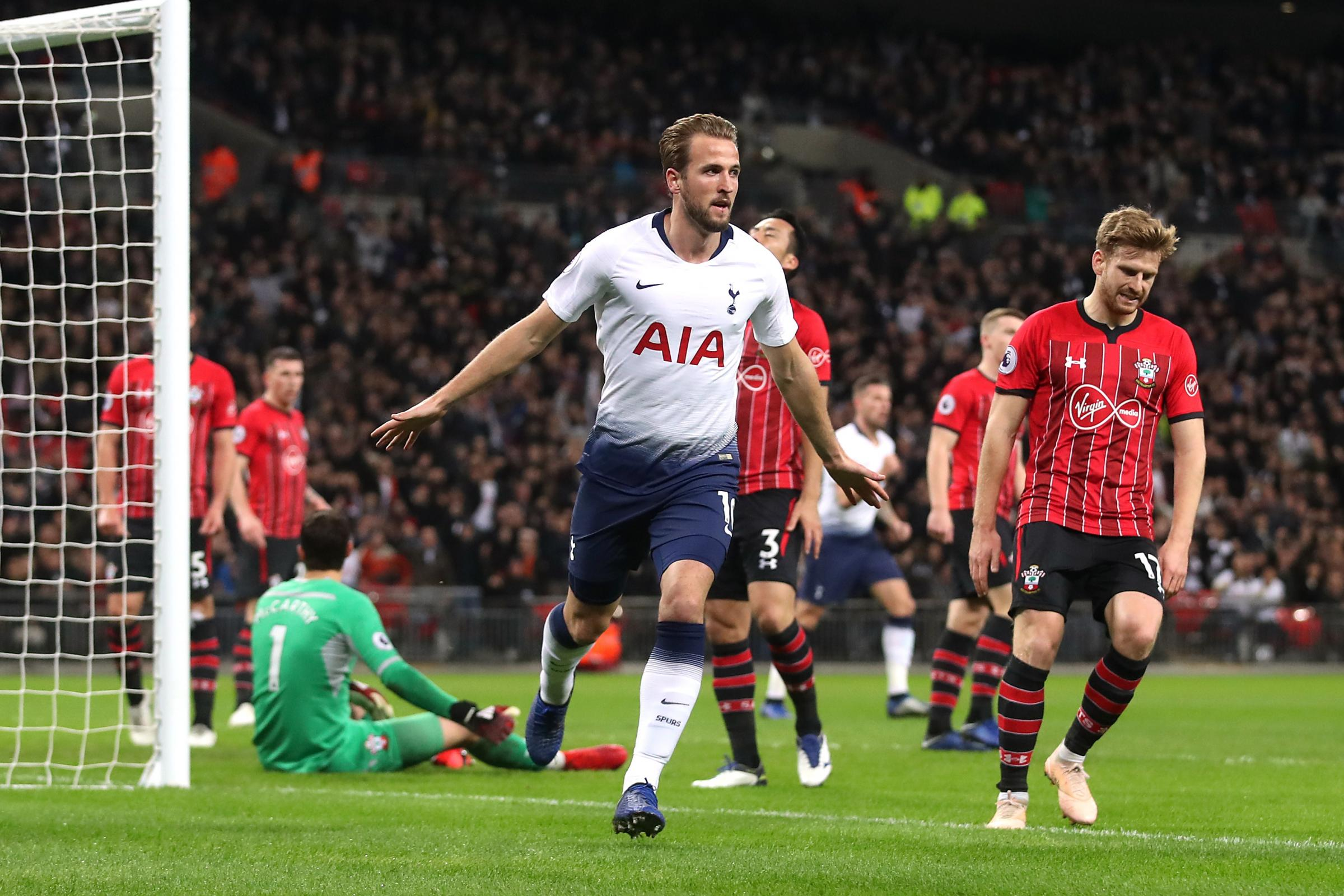 Harry Kane put Tottenham ahead with his ninth Premier League goal of the season