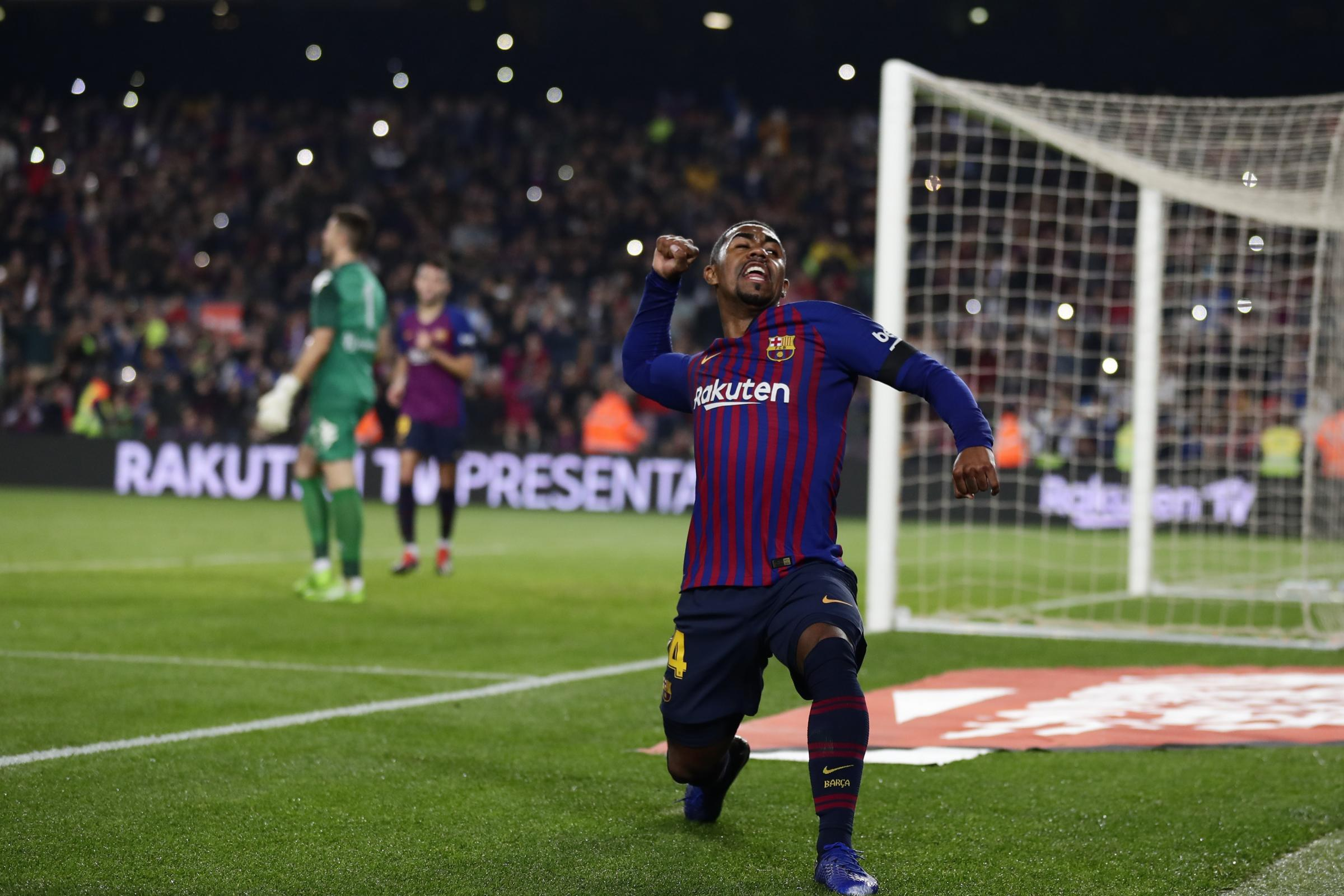 Malcom will miss Barcelona's Champions League clash with Tottenham (Manu Fernandez/AP).