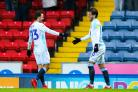 Danny Graham celebrates Rovers' opener with Bradley Dack