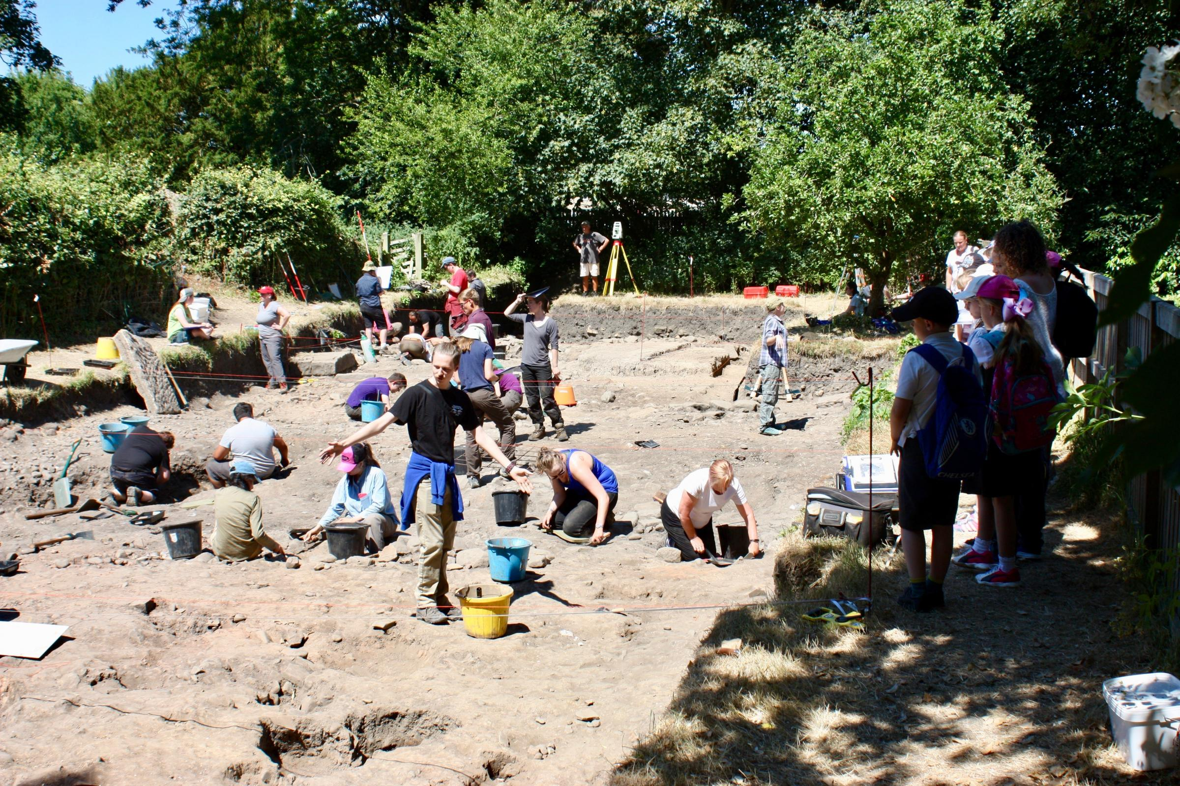 The team from UCLan digging at the site in Ribchester