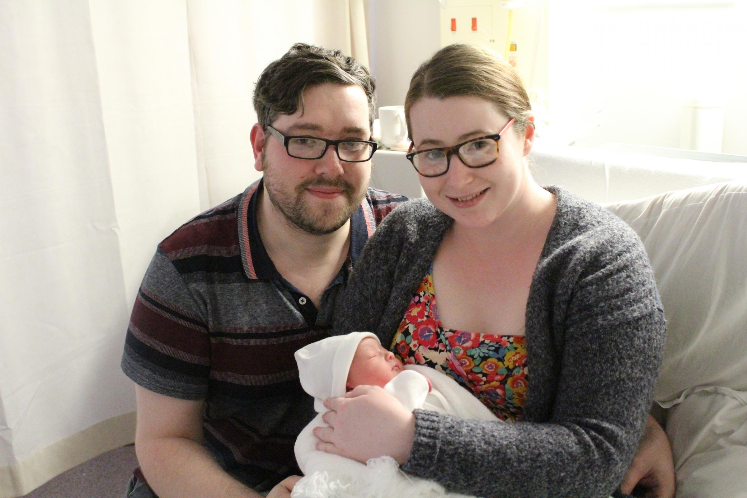 Bethany and Thomas Culshaw with their first daughter Lucy