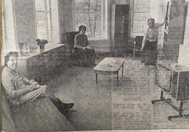 Patients enjoying their new home following the creation of a £200,000 block at Whalley's Calderstones Hospital in 1979