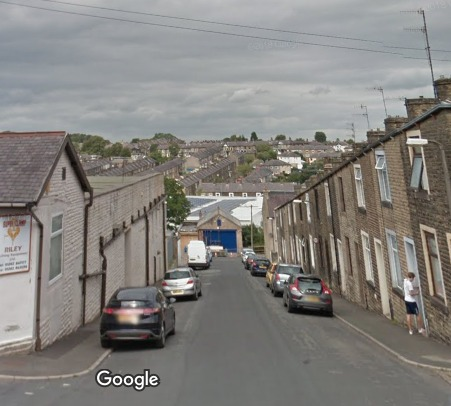 Skelton Street, Colne, where the house fire broke out.
