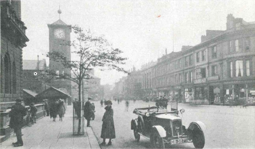 A 1922 view of King William Street and the Market Hall clock tower