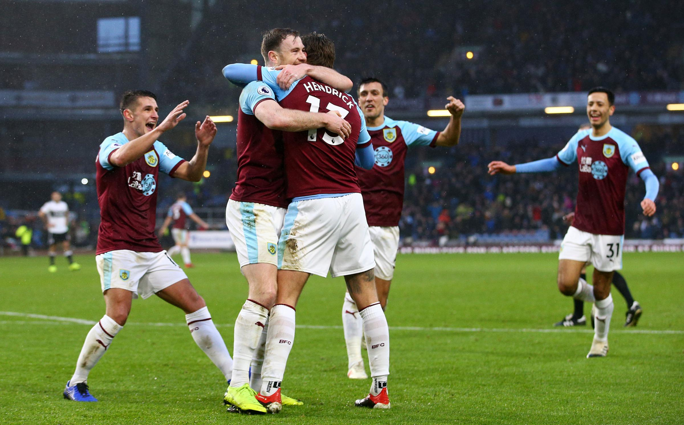 Burnley players react after Fulham's Denis Odoi scores his side's second own goal of the game during the Premier League match at Turf Moor, Burnley. PRESS ASSOCIATION Photo. Picture date: Saturday January 12, 2019. See PA story SOCCER Burnley. Pho