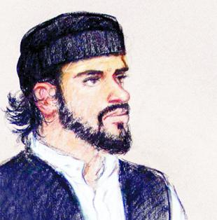 ON TRIAL: A court sketch of Ishaq Kanmi