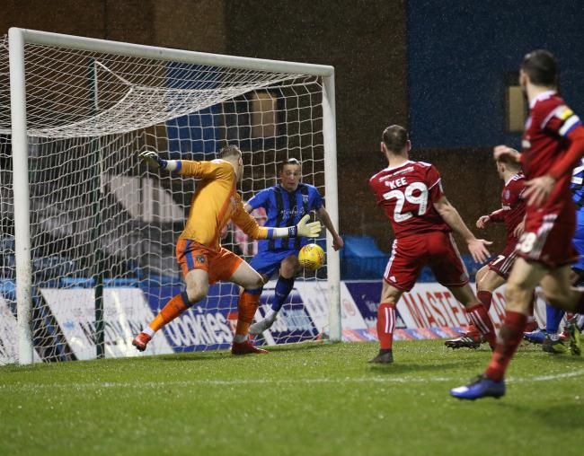 Billy Kee's effort was cleared off the line in the draw