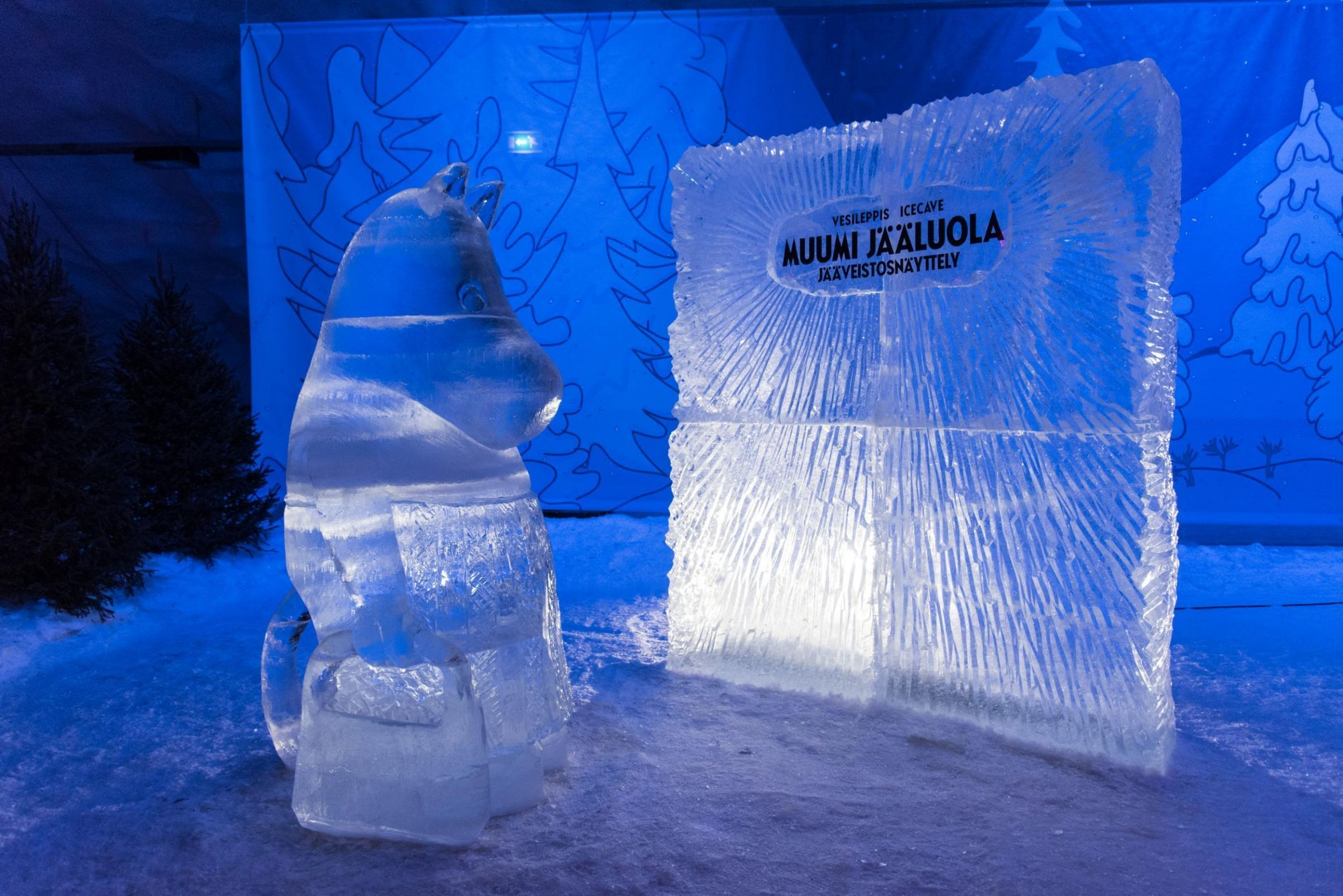The Moomin ice cave at Vesileppis Resort in Finnish Lakeland and (below) dawn in the forests of Tampere