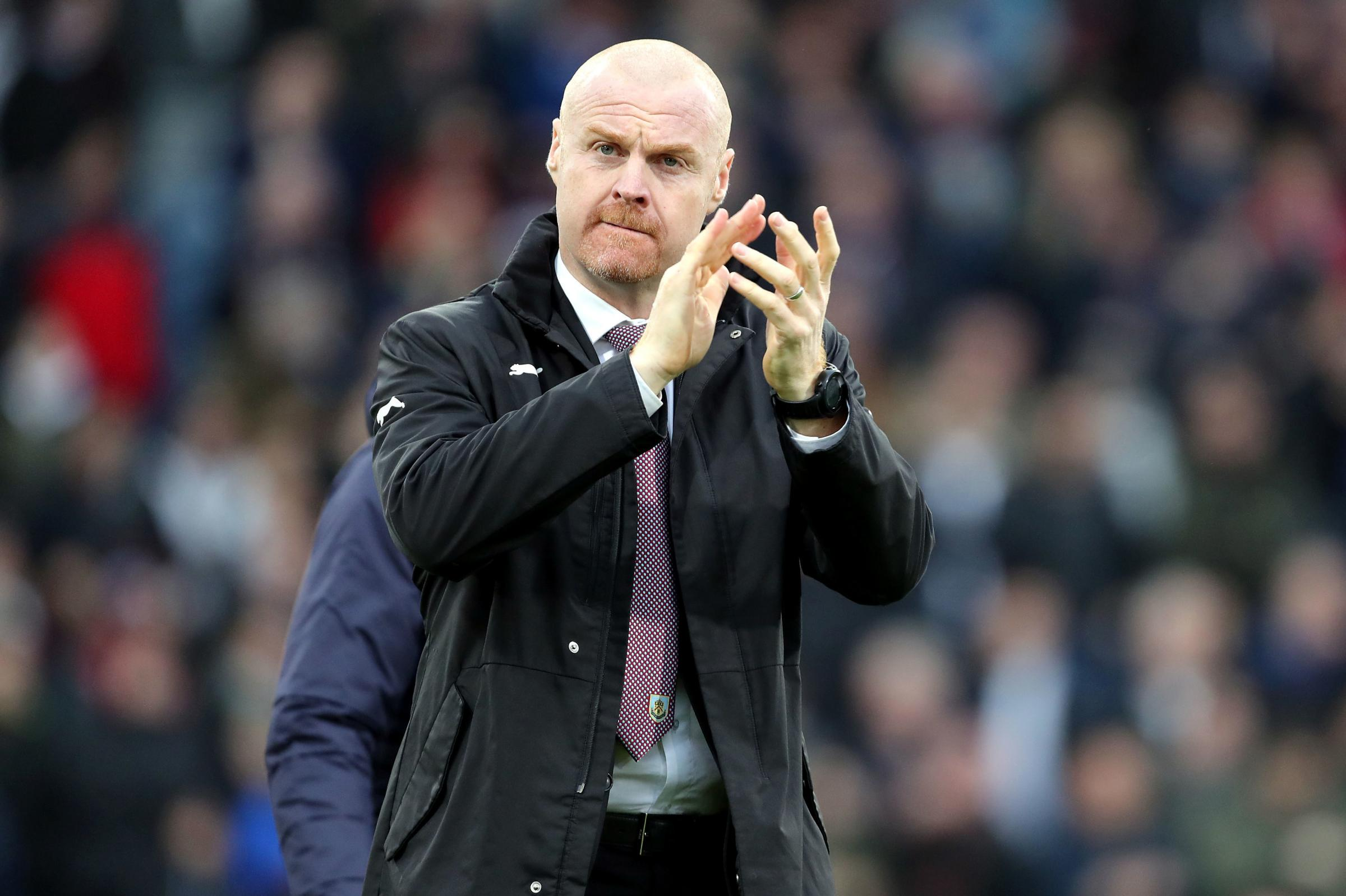 File photo dated 30-12-2018 of Burnley manager Sean Dyche. PRESS ASSOCIATION Photo. Issue date: Monday December 31, 2018. Burnley manager Sean Dyche accepts he has