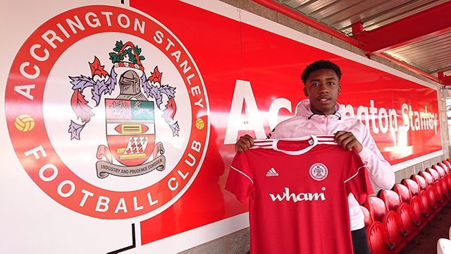 Okera Simmonds signed for Accrington Stanley last week