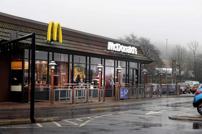 McDonalds at Rising Bridge, Accrington restaurant as it is set for a makeover inside and out.