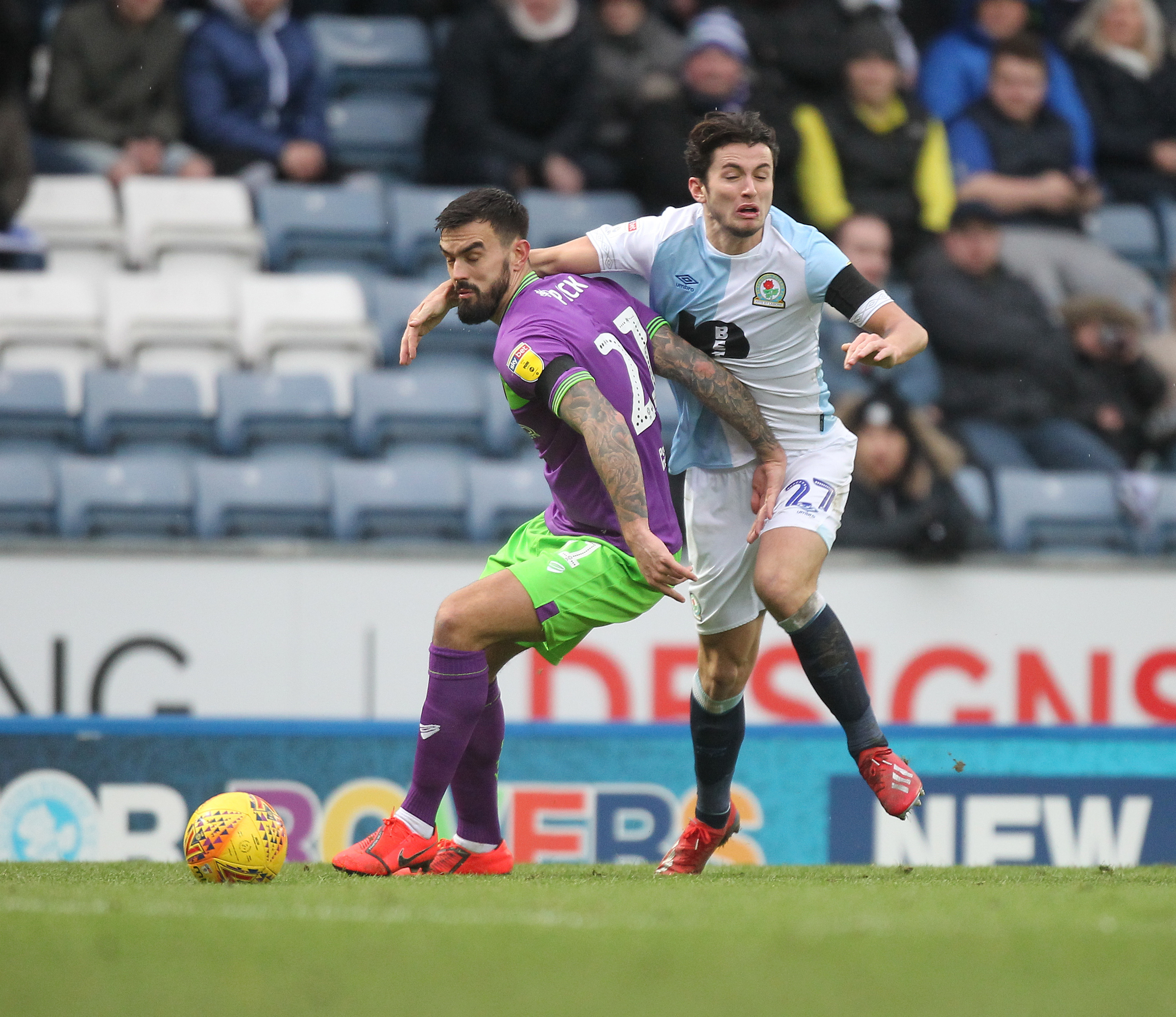 Lewis Travis made his ninth consecutive start for Rovers against Bristol City